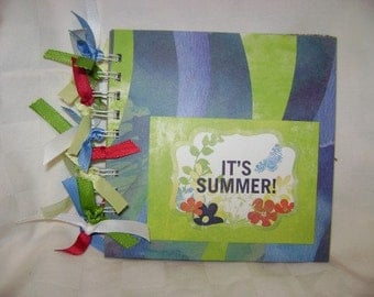 IT'S SUMMER 6x6 Chipboard Mini Scrapbook Album - PREMADE