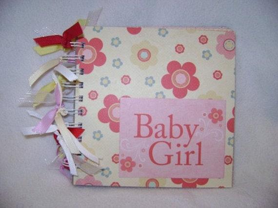 BABY GIRL Chipboard 6x6 Mini Scrapbook Album - PREMADE