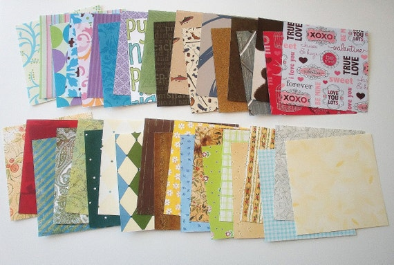 40 Sheets Variety Pack Of 6x6 Patterned Paper Hand Cut Many Themes