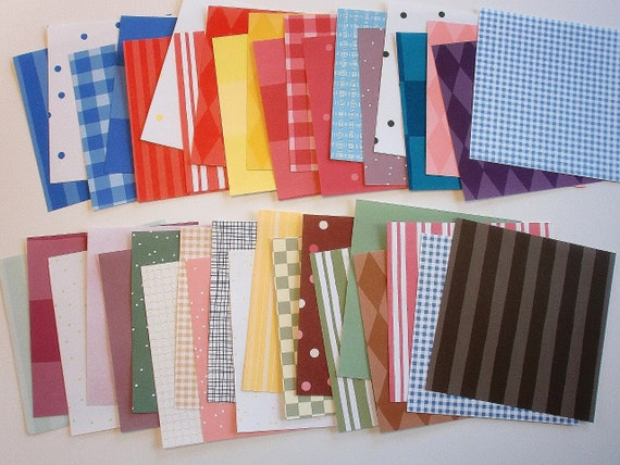 40 Sheets Patterns Pack Of 6x6 Patterned Paper Hand Cut Many Themes