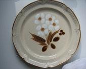 Mid Century Stoneware Platter-Huge - 12 1/2 inches