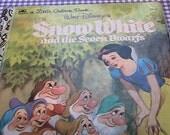Vintage Little Golden Book - Snow White and the Seven Dwarfs - Walt Disney - 1984 edition - 103-67