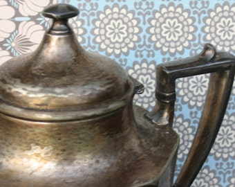 Vintage Sheffield Hammered Silver Plate Teapot/Coffee Pot - Art Deco