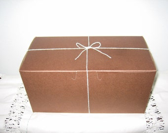 Cocoa Brown  Cup Cake Boxes-Set of 5