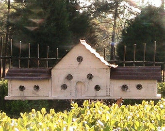 Personalized Birdhouse for a LARGE Family - Perfect Gift - Vermont Farm House a Barn