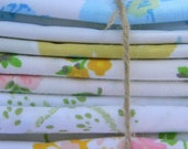Fat Quarter Bundle of 10 Vintage Bed Linens (Pack 2)