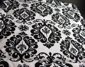 Black and White Brocade Catnip Pillow - L
