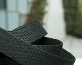 1 1\/4 Inch Cotton Belt Webbing in Black