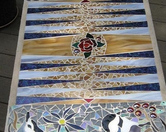 Mosaic Backgammon Table
