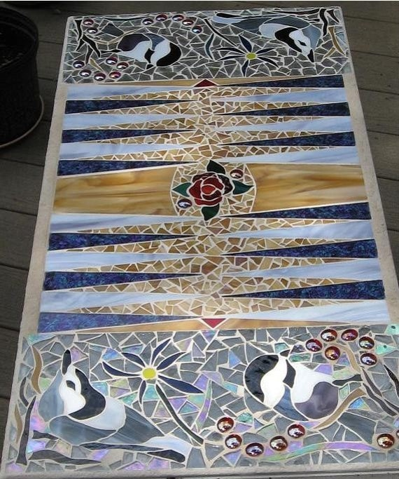 Mosaic Backgammon Table