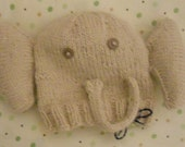 Hand Knit Angora Newborn Elephant Hat