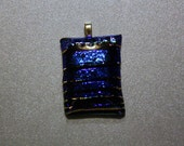 Brilliant Handcrafted 3D Window Dichroic Fused Glass Pendant