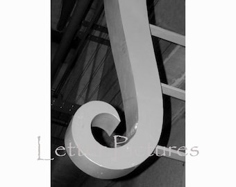 The Letter J Alphabet Photography  4x6 letter art by Letter Pictures