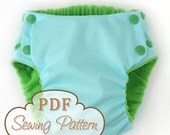 Trimsies Diaper pattern - Cloth diaper printable PDF sewing pattern - Instant Download