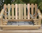 Cedar Porch Swing Tray Feeder made from Reclaimed Cedar