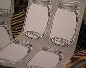 Mason Jar Stickers - Canning Jar Labels-Canning Tags-Rustic Wedding Drink Labels-Journal Spots-Recipe Stickers