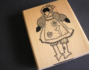 Carolina Crowe Rubber Stamp-Bird-Country Dressed Cros Rubber Stamp