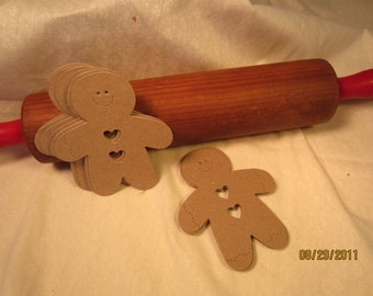 Blank Chipboard Gingerbread Men for Decorating-Christmas Gift Tags-Christmas Ornament Kit-Unfinished Chipboard-Holiday Garland-Baking