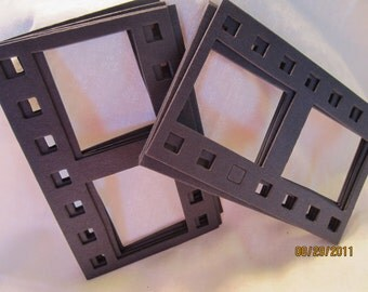 Black DIY Film Strip Frames-Blank Chipboard Filmstrip Shape-Scrapbook Embellishments-Photo Booth Fun-Black Chipboard Film Frames-Planner Art