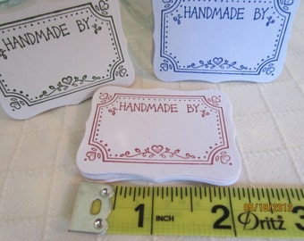 Canning Jar Labels-Frame Stickers-Canning Stickers-Gift Tags-Handmade By Stickers-Hand Stamped Canning Labels