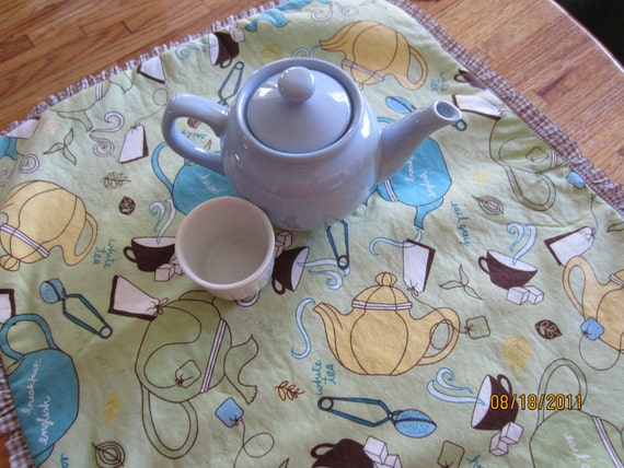 Dish Drainer Drying Mat Quiilted In Tea Pots By