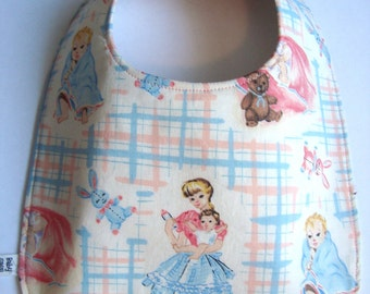 Vintage Mom and Baby Bib