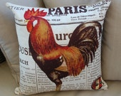 Rooster country pillow