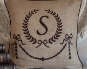 Personalize Embroidered Monogram Pillow