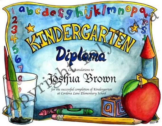 Diplomas Templates Kindergarten Kindergarten Diploma Pdf