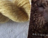 British Wensleydale DK dyed in Safflower