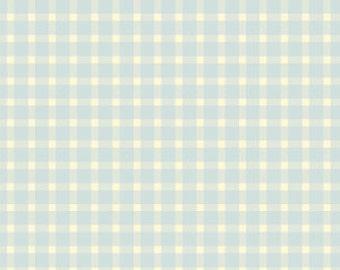 "LAST PIECE Henry Glass' Beautiful Day Plaid (Blue) 16"""