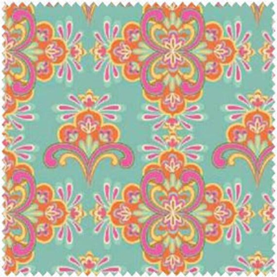 "LAST PIECE Windham Fabric's, Cabana Blooms (Blue 33801 3) 20"""