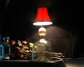 Etched Parton Bottle Lamp Sugar Skull