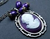 Vintage necklace HEATH LADY cameo pendant