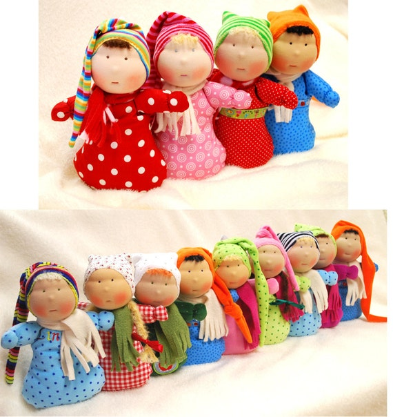 Handmade doll with Name 10 inch Waldorf tradition Custom Order