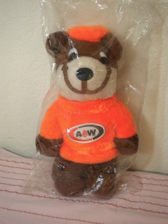 Vintage A & W The Great Root Bear Stuffed Collectible Toy A and W Restaurant