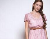 Dress, Summer Flower Field with belt