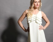 Sunny dress for a summer day, custom order, pale yellow chiffon