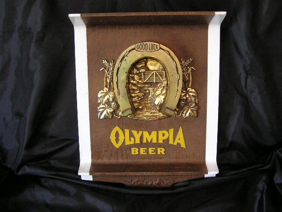 Vintage Good Luck Olympia Beer Sign