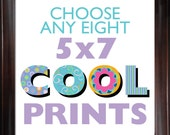 Choose ANY (8) EIGHT 5x7 Children's Art Prints from COOLISART- Multiple Print Discount