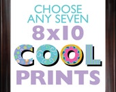Choose ANY (7) SEVEN 8x10 Children's Art Prints from COOLISART- Multiple Print Discount