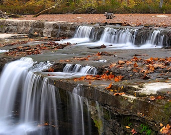 Fine Art Photo of Cataract Falls, Owen County, Indiana (IDAUF035)