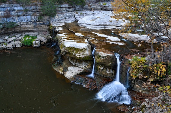 Full Color Photo of Cataract Falls, Owen County Indiana (IDAUF001)