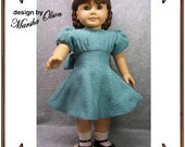 PDF - American Girl Doll Clothes Pattern - Fitted Dress - No. PDF-174