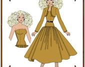 PDF - Silkstone Barbie Doll Clothes Pattern - Dress, Jacket - No. PDF-124