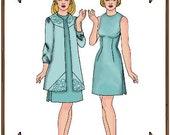 "PDF - 22"" American Model Doll Clothes Pattern - Dress, Duster Coat - No. PDF-94"