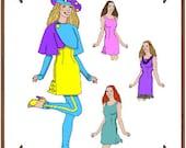 Ellowyne Wilde Doll Clothes Pattern - Dress, Jacket, Hat, Leggings - No. 127