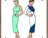 PDF - Gene Marshall Doll Clothes Pattern - Sheath Dress, Jacket, Hat - No. PDF-45