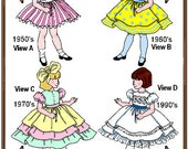 PDF - Betsy McCall Doll Clothes Pattern - Party Dress - No. PDF-75