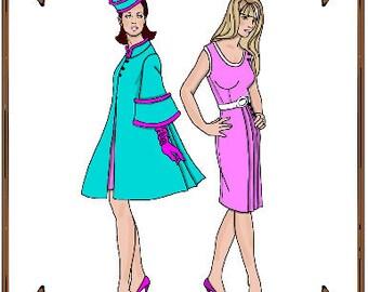 PDF - Silkstone Barbie Doll Clothes Pattern - Coat, Dress - No. PDF-84